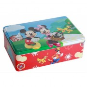 Metalen Mickey en Minnie mouse doos