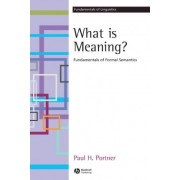 What is meaning? by Paul H. Portner