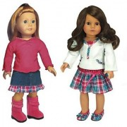 18 Inch Doll Clothing 4 Pc. Set Fits American Girl Dolls Clothes Doll Outfit