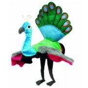 Hape Hand Glove Puppet Peacock, Multi Color
