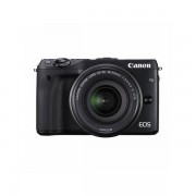 Aparat foto Mirrorless Canon EOS M3 24.2 Mpx Black premium Kit EF-M 18-55mm