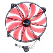 AEROCOOL 11-Blade 3W Mute 200mm 4-Red LED Computer CPU Cooling Fan - Red (12V / 20 x 20cm)
