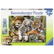 Ravensburger puzzle tigri, 200 piese
