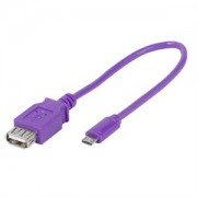 Adapter USB A/microB OTG Vivanco 35824 Purple 0.15m 35824