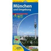 Fietskaart ADFC Regionalkarte München und Umgebung   BVA