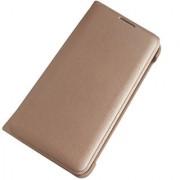 Lava X19 Premium Quality Golden Leather Flip Cover