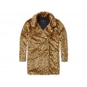 Maison Scotch Leopard faux fur coat