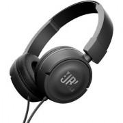 JBL T450 On-Ear Headphones with Mic (Black)