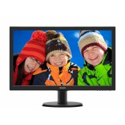 "MONITOR PHILIPS 23.6"" LED, 1920x1080, 8ms, 250cd/mp, vga+dvi-d (243V5QSBA/00)"