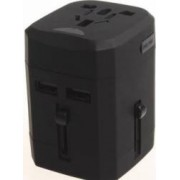 Adaptor priza universal Serioux SRXA-163 2 porturi USB Negru