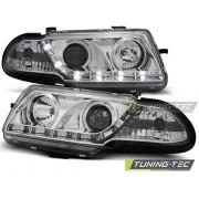 Přední světla, lampy Opel Astra F 94-01 Day light chromové
