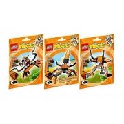 Lego, Mixels Series 2 Bundle Set of Flexers, Kraw (41515), Tentro (41516), and Balk (41517)