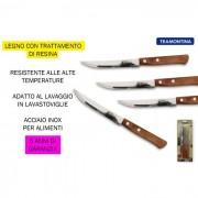 Tramontina coltello bistecca polywood naturale 6 pezzi