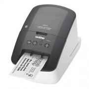Imprimanta etichetare QL710W, compatibila cu benzile DK, Negru/Alb