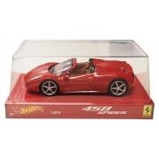 Ferrari 458 Spider Red Hotwheels 1:24th