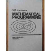 Mathematical Programming - V.g. Karmanov