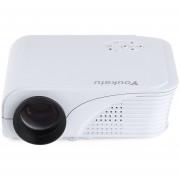 Proyector Projector Youkatu S320 1800 Lumens 800 X 600 Pixels 1500:1 HD English Edition EU PLUG -Blanco