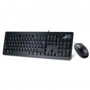 Kit Tastatura + Mouse Genius Slimstar C130, USB, Negru