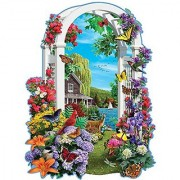 Bits and Pieces - 300 Piece Shaped Puzzle - Lakeside Arbor - Wildlife and Lake Puzzle - by Artist Alan Giana - 300 pc Ji