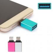 Teflon Aluminium Alloy Otg On The Go Adaptor ( 2 Pcs ) For Nexus 5X 6P,One Plus 2 , Lumia 950Xl , Letv Le 1S , Smart Phones