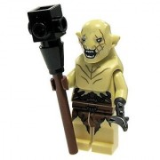 LEGO Hobbit and Lord of the Rings Minifigure - Azog Open Mouth with Club Weapon (79017)