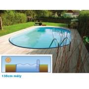 Hobby Pool Toscana fémpalástos medence 3,2 x 6 x 1,35m blue-style peremmel AS-184024