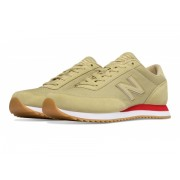 New Balance 501 Ripple Sole Tan with Red