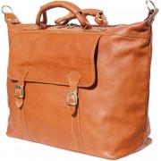 Florence Leather Market Borsone Unisex''Weekender'' in cuoio da viaggio (7504)