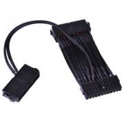 Cablu adaptor Phobya 24-pini 2xPSU Power On Cable (2x24pin to 1x24pin) sleeving black