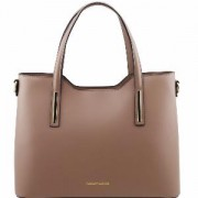 Sac Cuir Mode Beige Femme Olimpia -Tuscany Leather-