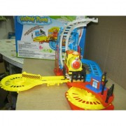 UNIQUE- BEAUTIFUL HAPPY TRAIN SET- CHANGE ITS TRACK - WITH SOUND - GO UP & DOWN
