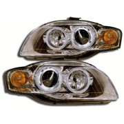 Faruri Angel Eyes Audi A4 8E 05-07 crom