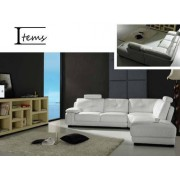 items-france SUNLIGHT - Canape cuir 5 places 275x235x95