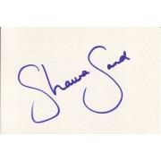 Shauna Sand Autographed Index Card