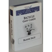 Blank Face Blue Back Bicycle Deck