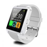 "Smartwatch Cronos U8, Capacitive touchscreen 1.48"", Bluetooth, Bratara silicon, Functie telefon (Alb)"