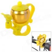 JSZ AI006 Tea-pot Style Aluminium Alloy Bicycle Bell - Golden + Yellow