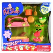 Littlest Pet Shop Exclusive Portable Pets Gift Set with Tree Frog & Hermit Crab by Hasbro