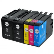 Kingway Compatible HP 932 933 XL HP 932XL 933XL Ink Cartridge for (With New Version Chips) Replacement for HP Officejet 6700 6600 7612 7610 6100 7110 Printer (1 Set+1BK)