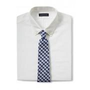 ランズエンド LANDS' END メンズ・シルク・ヘザー・ギンガム・タイ/ネクタイ(ブルーメランジ)
