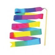 Ritmikus gimnasztika szalag színátmenetes 6m , tartó pálcával