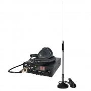 Kit Statie radio auto CB PNI Escort HP 8000 ASQ + Antena CB Midland 18-244m