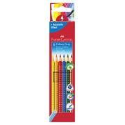 Faber-Castell 112406 Crayons de couleur Colour GRIP, étui de 6