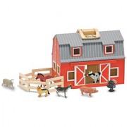 Melissa And Doug Fold And Go Mini Kids Play Barn