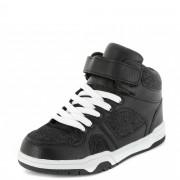 Hoge sneakers met denimlook