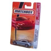 Mattel Matchbox 2008 Mbx Sports Cars 1:64 Scale Die Cast Metal Car # 13 Silver Luxury Sport Coupe Mercedes Benz Slr Mc Laren