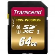Card Transcend SDXC 64GB Class 10 UHS-I U3 W85