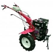 Motocultor diesel Gardelina 1100CE WM cu roti metal 400mm si plug LY reversibil