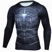 Camisa de los hombres de la manga larga del patron del hombre de los deportes al aire libre - negro (xxl)