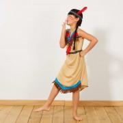 Verkleedkostuum indianenmeisje